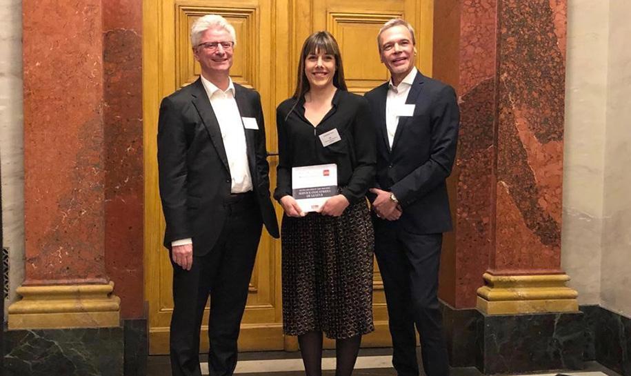 Christian Brunier, Stéphanie Luizzi et Christian Grego reçoivent le prix