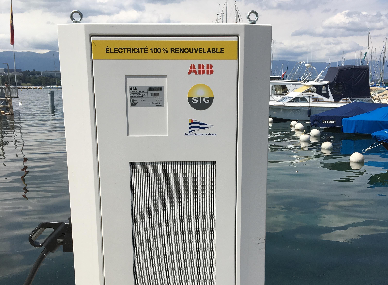 Borne de recharge pour bateaux électriques