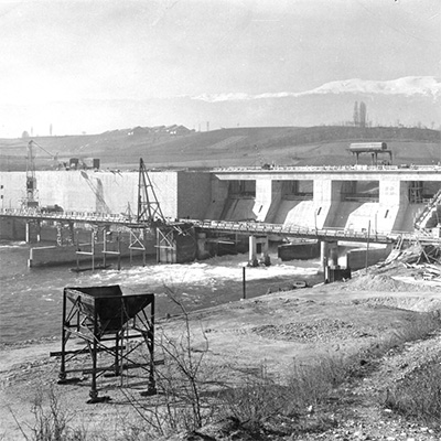 Barrage de Verbois en 1943